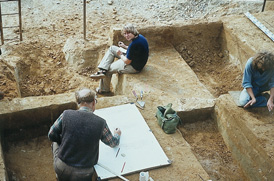 Opgraving in groeve Belvedere