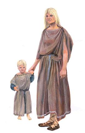 De Friezen kwamen in opstand tegen de Romeinen maar bleven wel nauwe contacten met hen onderhouden. (Tekening: Rob van Eerden)